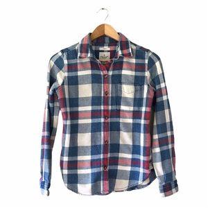 AE | Textured Cotton Flannel Shirt | XS